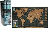 LARGE SCRATCH OFF WORLD MAP POSTER PERSONALIZED TRAVEL VACATION PERSONAL