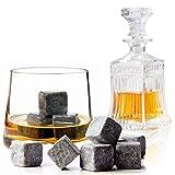 EMOTREE 9x Whisky Steine Eiswürfel Kühlsteine natürlichen Speckstein Whisky Stones ICE Stone