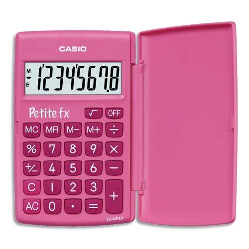 """CASIO LC-401LV \""""Petite fx\"""" Grundschulrechner pink"""