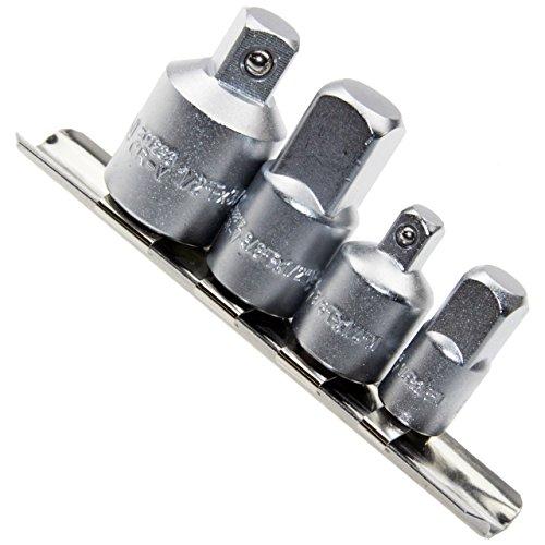 """Adapter-Satz aus Steckleiste / Steckleiste 1/4"""" 3/8"""" 1/2"""" (VERBINDUNGSSTÜCK) aus Chrom-Vanadium-Stahl, 4-tlg. geeignet für aller Art von Knarren, Ratschen, Steckschlüsseln, Drehmomentschlüsseln, Gleitgriffe und Knebel"""