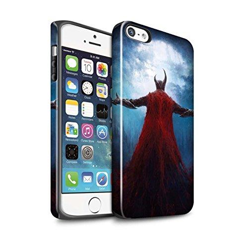 Offiziell Chris Cold Hülle / Glanz Harten Stoßfest Case für Apple iPhone SE / Kriegsheld/Warlock Muster / Dämonisches Tier Kollektion Dunkelste Stunde