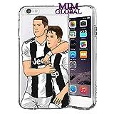 MIM Global Football Soccer Custodie Case Cover Compatibile per Tutti iPhone (iPhone 7/8, R & D)