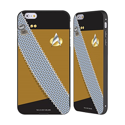 Ufficiale Star Trek Kor Klingon Uniforme Nero Cover Contorno con Bumper in Alluminio per Apple iPhone 5 / 5s / SE Worf