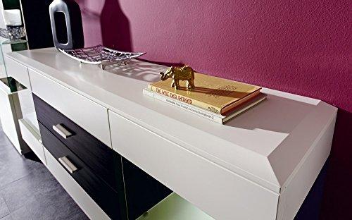 Design Sideboard hängend – Weiß ML / Esche Grau Nachbildung, Soft Close-Dämpfung / Selbsteinzug, Wohngalerie - 2