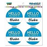 Graphics and More Blake Hello My Name Is Mag-Neato 's-TM Automotive Car Kühlschrank Locker Vinyl Magnet Set