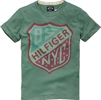 Hilfiger Denim - T-Shirt - Homme - Vert-200-TR-A1 - FR : 56 (Taille fabricant : XXL)