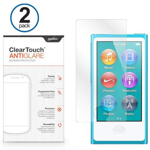 New iPod Nano 7Displayschutzfolie, BoxWave ClearTouch AntiGlare (2er Pack) [Anti-Fingerprint Matt Folie Skin für Apple iPod Nano 7 Ipod Nano Skin