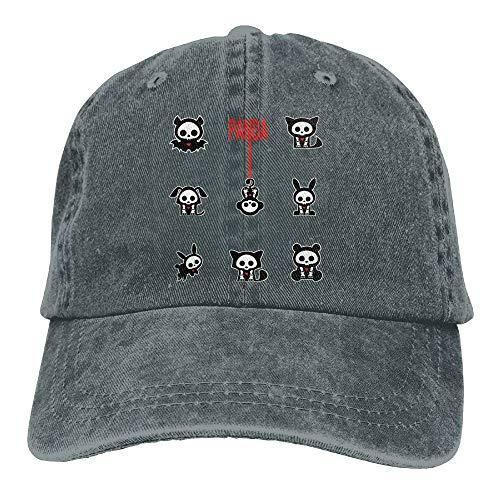 AOHOT Herren Damen Baseball Caps,Hüte, Mützen, Classic Baseball Cap, Panda Bear Sugar Skull with Sunglasses Caps Flat\r\n Snapback Hat Classic