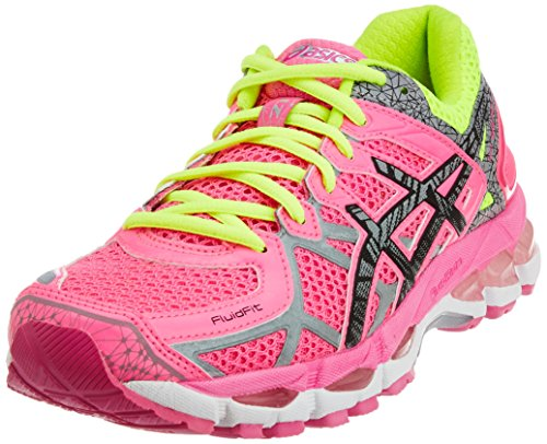 ASICS Women's Gel-Kayano 21 Lite-Show Hot Pink, Lite and Safety Yellow Mesh Running Shoes -6 UK/India (39.5 EU)(8 US)  available at amazon for Rs.6999