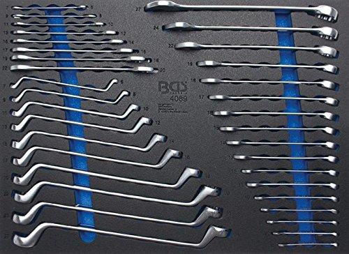 Preisvergleich Produktbild BGS 4089 3/3 Werkstattwageneinlage Ring, Maul-Ringschlüssel-Satz, 35-Tlg