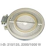 VIOKS Heizkörper Strahlheizkörper Hilight-Strahlheizkörper für Glaskeramikkochfeld Kochfeld wie Bosch Siemens 00356337