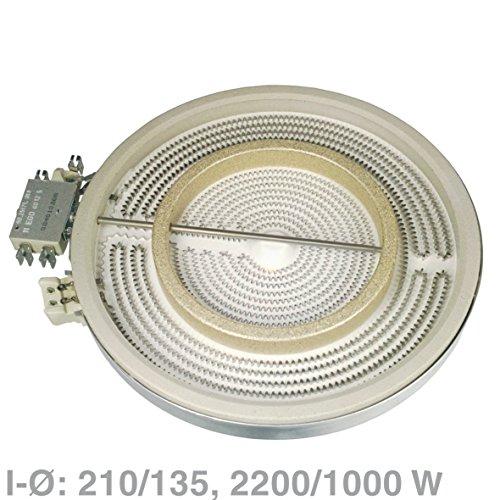 vioks Radiateur Jet HiLight-Jet Radiateur Radiateur pour plaque vitrocéramique plaque comme Bosch Siemens 00356337