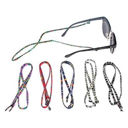 Soleebee 6 pezzi universali Corda per occhiali Corda intrecciata multicolore Cordino per occhiali / Corda per occhiali / Occhiali da sole Cordino per