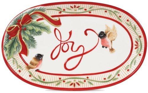 Fitz and Floyd Serveware, Santa's Forest Friends Joy Sentiment Tray by Fitz and Floyd Floyd Serveware