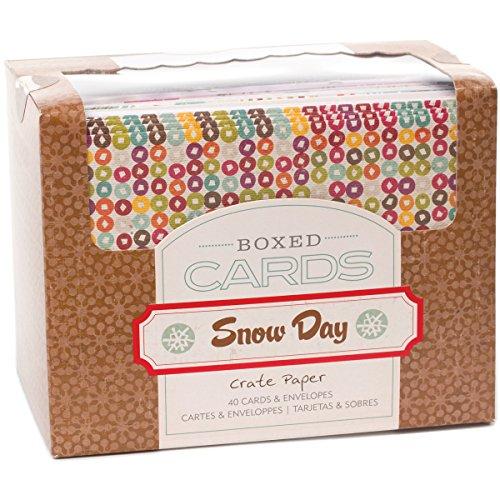 ee Tagen Box Papier A2Karten und Umschläge, 4,375von 14,6cm, 40 (Schnee-tag Handwerk)