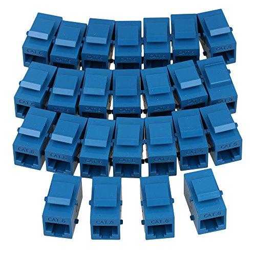 Weibliche Keystone Jack (Yibuy 25pieces Blau Weiblich auf Weiblich RJ45UTP Keystone Kupplung CAT6Jack)