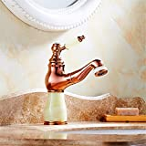 Gyps Faucet Waschtisch-Einhebelmischer Waschtischarmatur BadarmaturDie Unter Tabelle Gießen Kaltes Wasser am Waschbecken Armatur Waschbecken Waschbecken Wasserhahn antiken Jade Gold Gewindebohrer G