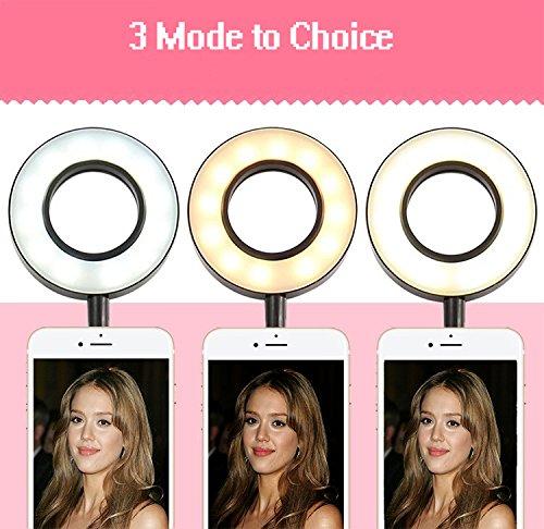 Ring-Light-Selfie-Anello-Luce-LED-Lampada-Dimmerabile-Cellulare-3-Luci-e-10-Luminosit-Supporto-da-Telefono-360--per-Youtube-Facebook-Smartphone-iPhone-8-76-plus-Samsung-HTC-HUAWEI-P9-P8-Mate