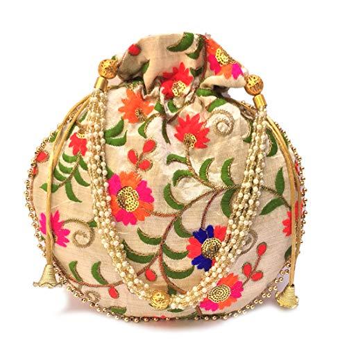 Shubh Shagun Ethnic Rajasthani Women's Handbag Potli wallet women bags