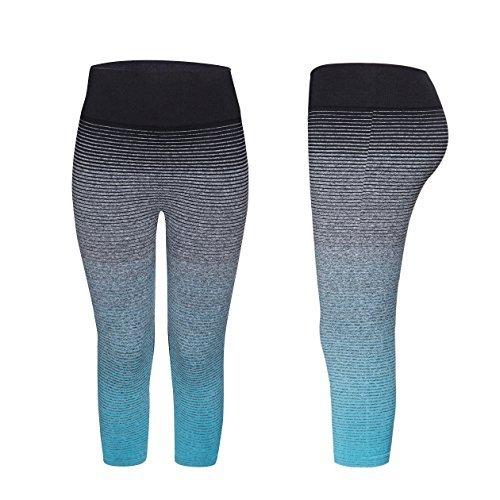 YR.Lover Damen Schlank Capris Yoga Hosen Running Fitness Leggings