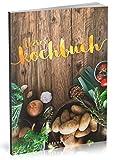 Dékokind Leeres Kochbuch: Für über 80 Lieblingsrezepte || Ca. A5 Softcover || Rezeptbuch zum Selbstgestalten / Selberschreiben mit Inhaltsverzeichnis || Motiv: Rustikal