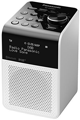 Panasonic Rf-d20bt Compact Splash Proof Radio With Dab & Bluetooth - White
