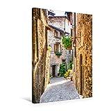 Premium Textil-Leinwand 50 x 75 cm Hoch-Format Altstadt - Pieve | Wandbild, HD-Bild auf Keilrahmen, Fertigbild auf hochw
