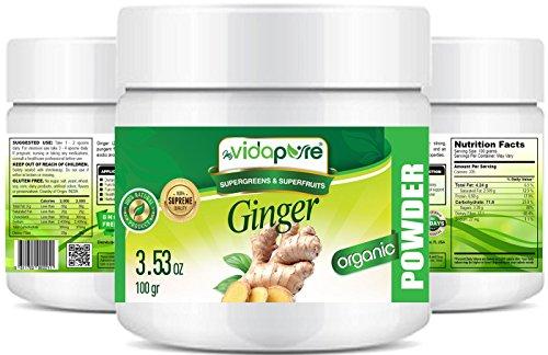 Organisches GINGER ROOT PULVER. 100% Pure Natural RAW Glutenfrei, Roh, Non-GMO. SUPER Essen. 3,53 Unzen – 100 gr. von myBioPure