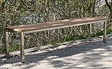 Szagato Sitzbank BxTxH: 100x30x40cm, Edelstahl (Sitzbank für Wohnraum, Gartenbank, Bank mit Echt-Holz, Gartenmöbel, Holzbank, Parkbank) (Marke