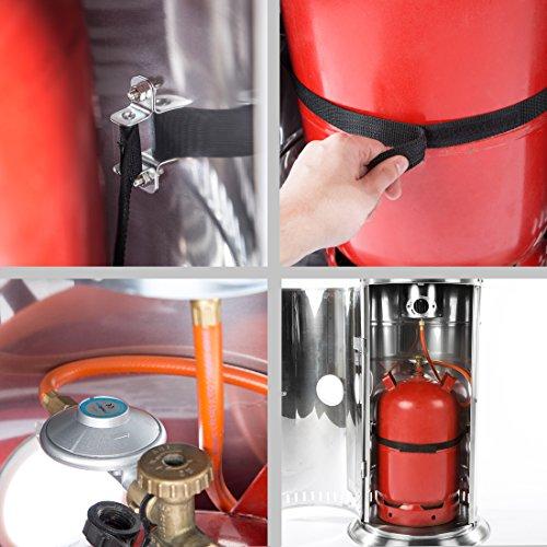 Ultranatura Edelstahl Gas-Heizstrahler GH-12 – Terrassenheizung regelbar bis 12 KW; - 5
