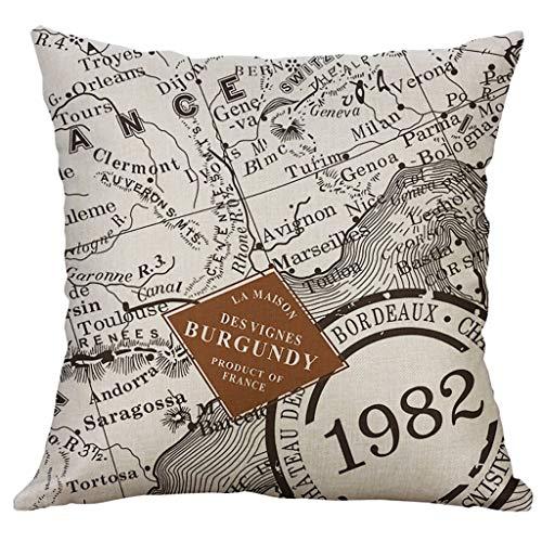 IYHENZ Creative Leinen Kopfkissenbezug Dekorative Kissenbezug Kissenhülle Pillowcase Spannbettlaken Hause Sofakissenbezug für Zuhause Dekorative Couch Sofa(A,40cmX40cm)