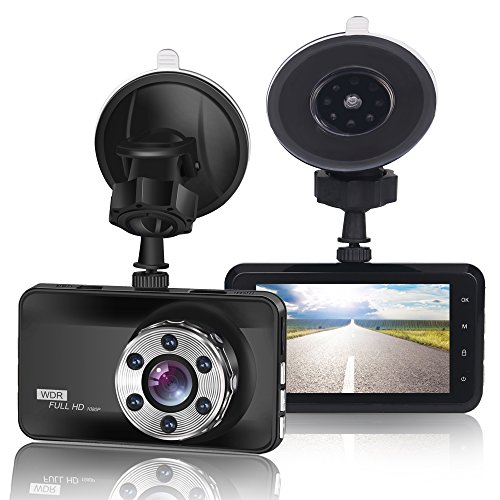 """ORSKEY FHD Auto Kamera Dash Cam 1080P AutoKamera Video Recorder 170° Weitwinkelobjektiv mit 3,0"""" LCD-Bildschirm Nachtsicht WDR Loop-Aufnahme Bewegungserkennung und G-Sensor"""