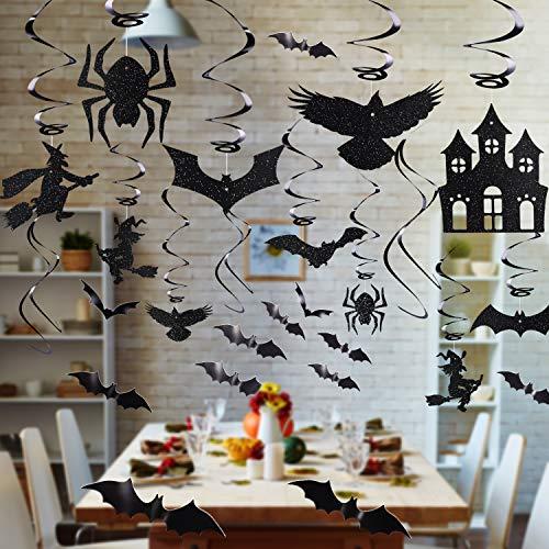 Halloween Haus Zubehör - 66 Stück Party Dekorfolie Folie Swirl