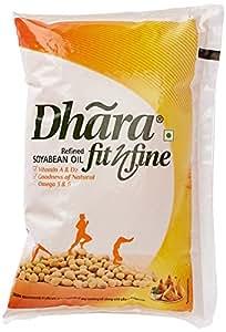 Dhara Soyabean Oil Pouch, 1L
