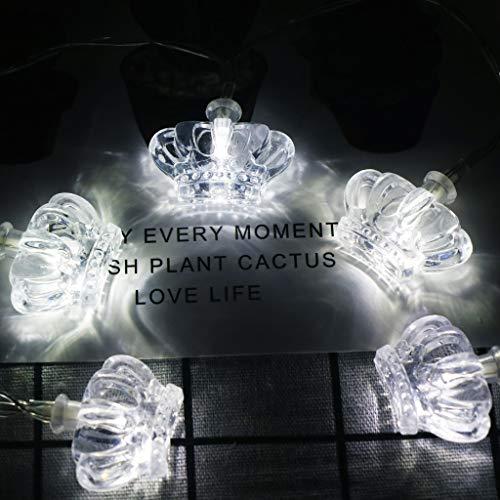 Dapei 10 LED Lichterkette für Innen Deko Krone Kupferdraht Lichterketten Kalteweiß Beleuchtung Deko String Licht für Festival Halloween Hochzeit Restaurant Balkon Indoor Party