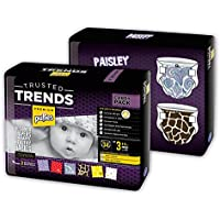 Pufies Trusted Trends Paisley - 68 Pañales, talla 3, 4-9 kg