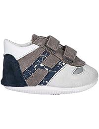 96a6cd49ccb5d Hogan Chaussures Baskets Sneakers Enfant Garçon en Daim Neuves Olympia Gris