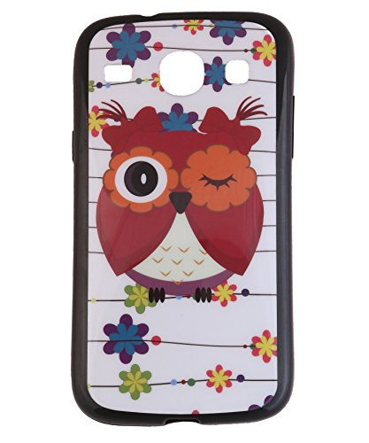 iCandy Matte Finish Soft Rubber Printed Back Cover for Samsung Galaxy Core Duos I8260 /8262 - Owl  available at amazon for Rs.99