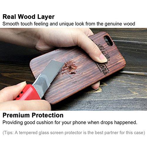 iPhone 7 Coque, YFWOOD Housse de Protection en Bois Naturel pour iPhone 7 pa-XYUN