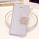 Popular Crystal Diamond Glitter Bling Flip Wallet Stand Case Cover 6 Colors For Samsung 9500/S4