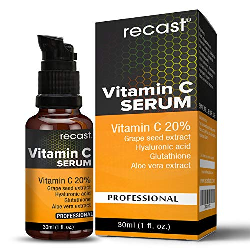Vitamin C Serum with Hyaluronic Acid and Glutathione For Face From Recast