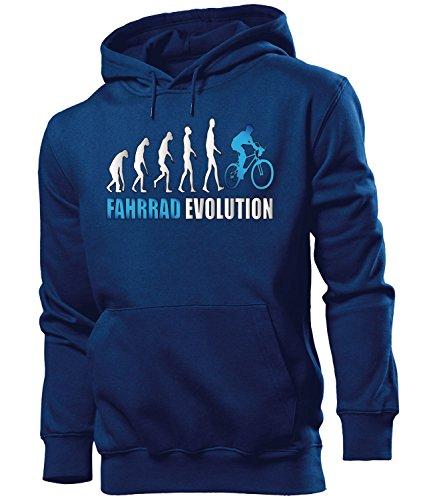 love-all-my-shirts Fahrrad Evolution 2059 Radsport Herren Hoodie Navy aufdruck Blau S