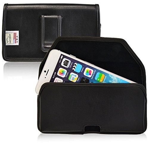 Turtleback kompatibel mit Apple iPhone 6S Plus, 6Plus schwarz Gürteltasche Leder Tasche mit Executive Gürtelclip Quertasche Made in USA, Black Leather Black Belt Clip Executive Leder-cell