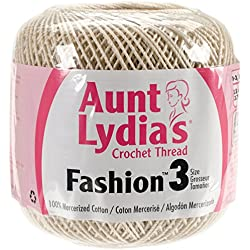 Aunt Lydia's Fashion Crochet Thread Size 3-Natural