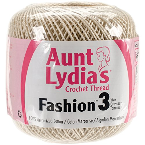 Aunt Lydia's Fashion Crochet Thread Size 3-Natural -
