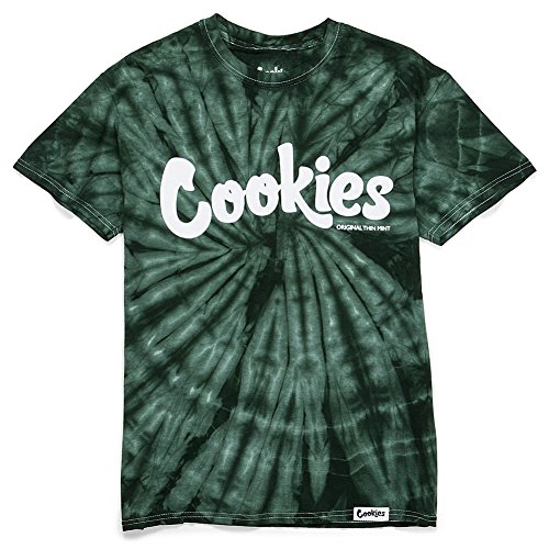 Cookies SF Men's Thin Mint Spider Tie Dye T Shirt Green L (Dye Tie Spider)