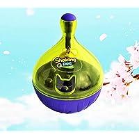 MIMOO Diseño Divertido Divertido Juguete de Vaso Interactivo para Mascotas con una Bola de Campana, Fuga, Gatos, Perros, dispensador de Alimentos, Juguetes