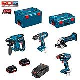 BOSCH Kit PSG4P2C (GBH 18V-EC + GSB 18-2-LI + GWS 18V-LI + GDX 18V-EC + 2 x 5,0Ah + AL1860CV +...