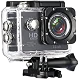 Heypex L06 1080P 12MP Sports Action Camera with Micro SD Card Slot/Action Video Camera/ 2 Inch LCD 170 Degree Wide Angle Compatible with All Android, iOS & Windows Device (Assorted Colour)