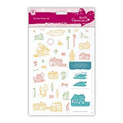 Papermania A5 Clear Stamps Village 40 Pieces